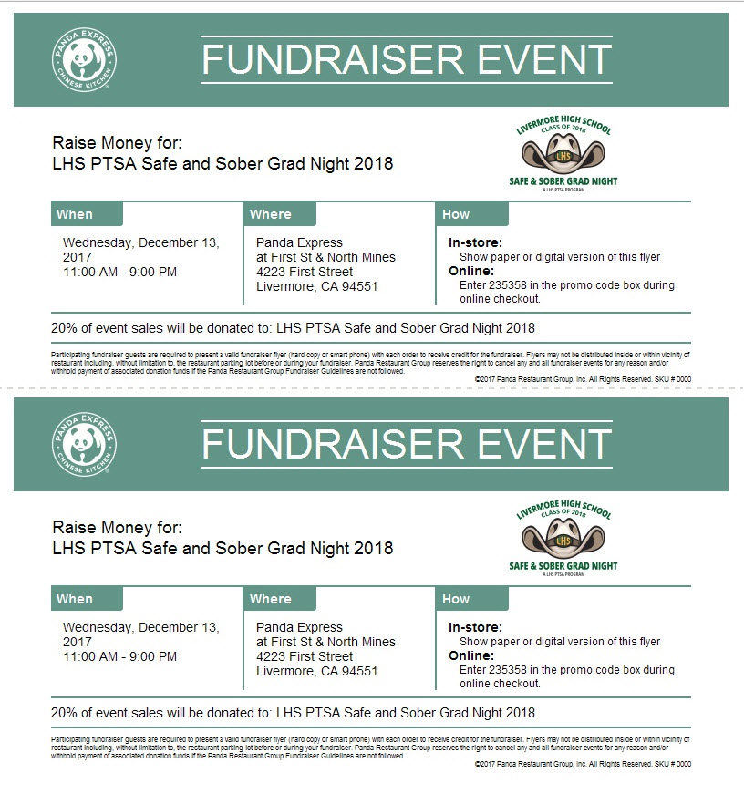 Ssgn Panda Express Dine Out This Wednesday Livermore High School Ptsa